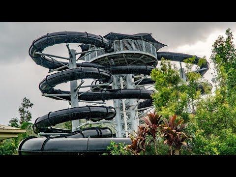 Wet 'n' Wild Gold Coast - Black Hole Water Slides POV