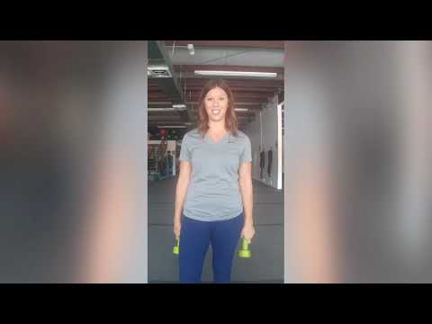 Dumbbell Hammer Curl + Overhead Tricep Extension
