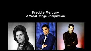 Freddie Mercury - A Vocal Range Compilation [F2-F6]