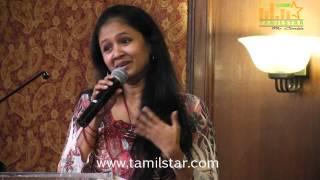 Singer Anitha at Raja vin Sangeetha Thirunaal Press Meet