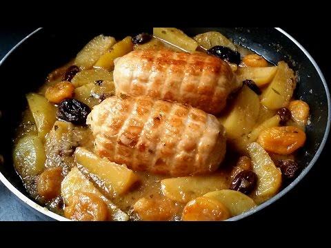 Rotti de pollo con patatas y frutos secos