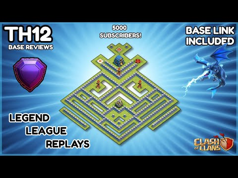 NEW TH12 Trophy Base  Farming Base  Updated With Base Share