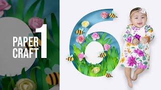 PAPER ART AND CRAFTS Flowers Bees | The Pardillas
