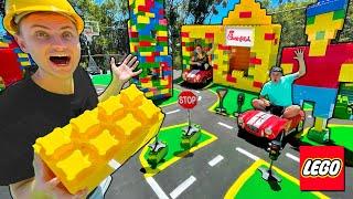 I Built a REAL LEGO CITY!!