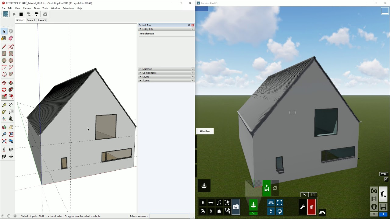 インポート:LiveSync for SketchUp カメラの同期(Lumion8 series)