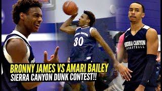 Bronny James & Amari Bailey SHUT DOWN DUNK CONTEST!! Sierra Canyon Midnight Madness!