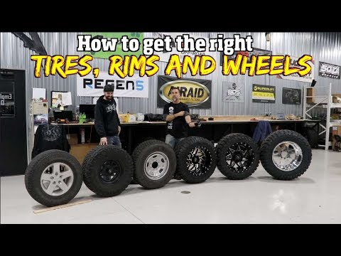 Understanding how to pick out the right size Tires, Rims and wheels