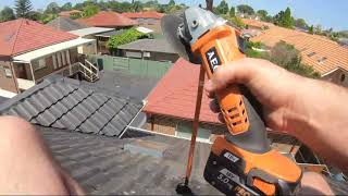 Installing A Tv Antenna on a Dangerous Steep Roof with My GoPro Chest Strap