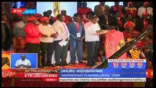 Rais Uhuru Kenyatta aidhinishwa na chama cha Jubilee pamoja na zingine nne