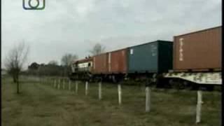 preview picture of video 'Tren de contenedores de NCA entrando a Oncativo'