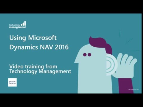 Dynamics NAV 2016: Video Training Series - YouTube
