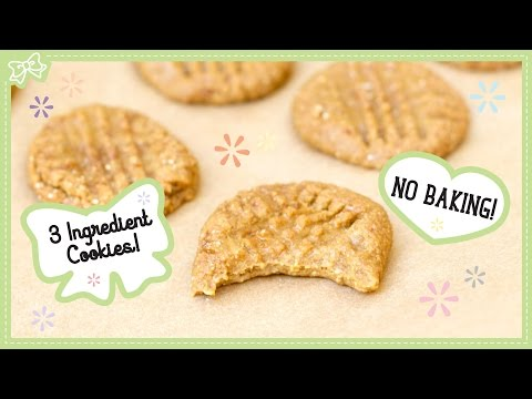 Video How to make Healthy Peanut Butter Cookies! 3 Ingredients & No Baking!
