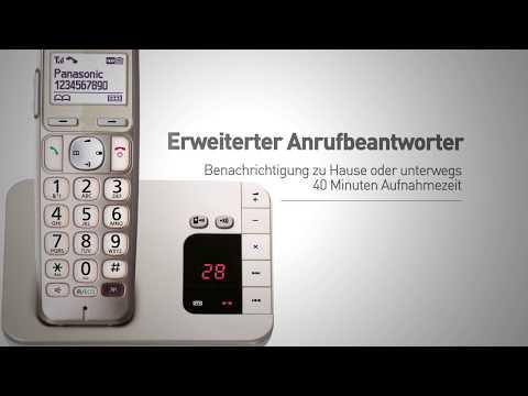 Panasonic Seniorentelefon KX-TGE220 für einfache Bedienbarkeit