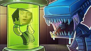 ГРЕННИ И ДЕДУЛЯ против ЧУЖОГО В МАЙНКРАФТ Летающая тарелка хищника Minecraft ALIEN vs PREDATOR