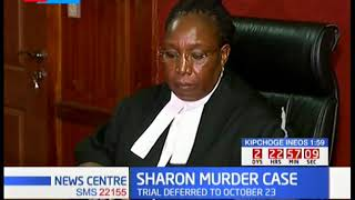 JUSTICE DELAYED: Trial of Sharon's Murder case postponed to the 23rd of October