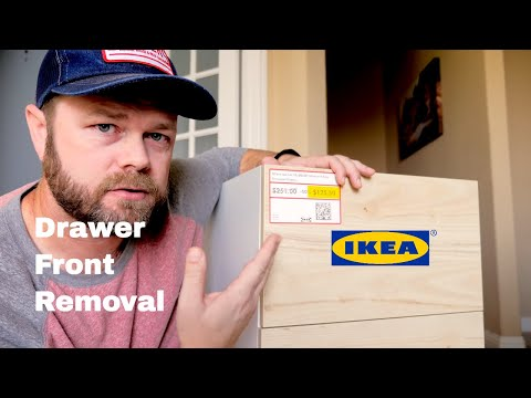 How to Remove an IKEA Drawer Front   DIY IKEA Hack