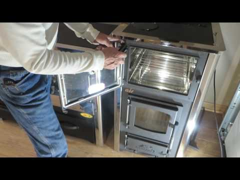 Concept 2 Wood Cookstove - Re-Attaching The Stove Door