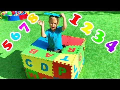 Учим английский алфавит, цифры и цвета с детьми | Сборник детских песенок