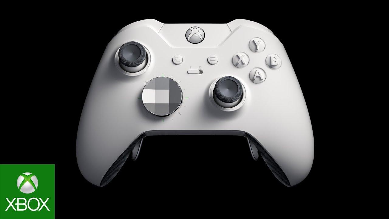Video paraEl paquete de Xbox One X Fallout 76 y el control inalámbrico Elite de Xbox disponibles por primera vez en blanco