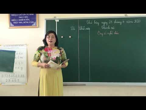 Môn Chính tả lớp 3, bài Ông tổ nghề thiêu (GV Khương Kim Hoàng, Trường TH C Phú Mỹ)