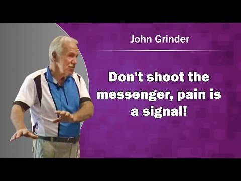 John Grinder: Don't shoot the messenger, pain is a signal!