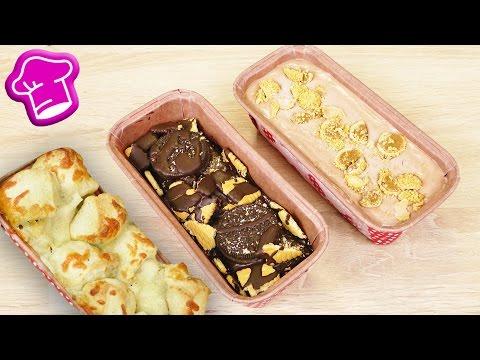 3 IDEEN für eine Kuchenform   Brot, Kuchen & Eis   super wenig Zutaten   DIY Idee