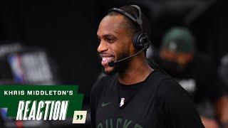 Khris Middleton NBA Finals Media Availability | 7.19.21