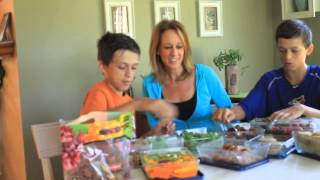 HOW to Pack a Lunch in 10 Minutes or Less with Two 13-Year Old Boys!