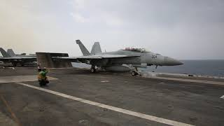 Flight Operations Aboard USS Abraham Lincoln in the Mediterranean Sea
