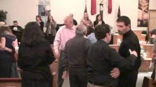Hot Pentecostal church shouting singing praise worship service