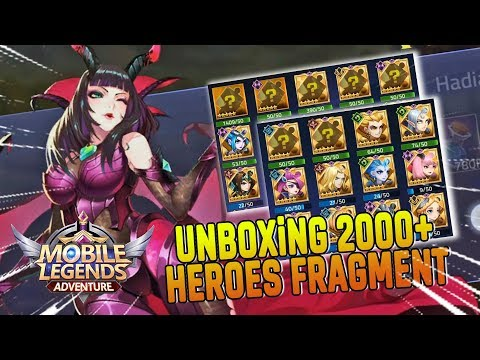UNBOXiNG 2000+ FRAGMENT HEROES 😂 Mobile Legends Adventure Indonesia