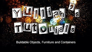 FO 4 CK Tutorial - Basics Pt 1 Buildable Objects Furniture and Containers