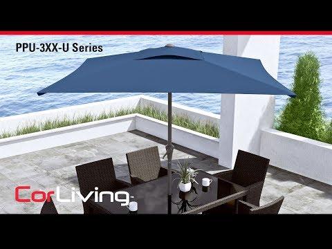 Video for Sandy Brown Square Outdoor Patio Umbrella