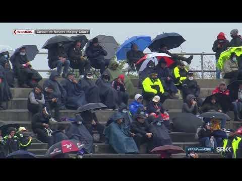 スーパーバイク世界選手権 第7戦フランス(マニクール・サーキット)雨の中行われたレース1のライブ配信動画