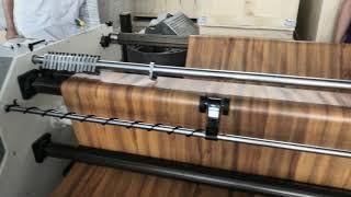 beier machinery pvc film cutter for wpc door