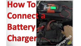 How to connect a car battery charger