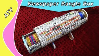 How To Make A Bangle Storage Box   Stand Using Newspaper   Best Out Of Waste   All Type Videyos