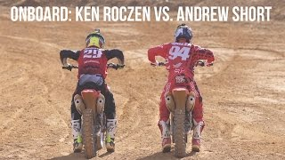 Onboard: Ken Roczen vs. Andrew Short - 2017 Honda CRF450R Intro - Monster Mountain MX