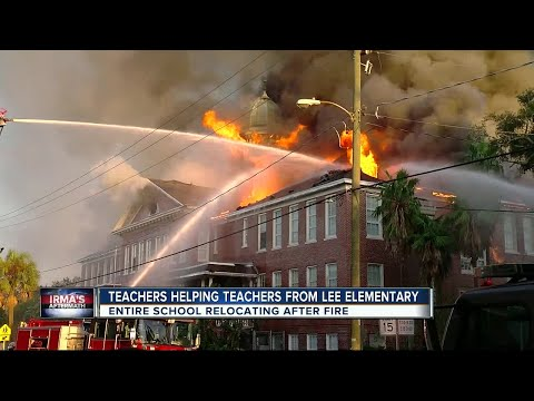 Lee Elementary teachers prep for class to resume after school caught fire