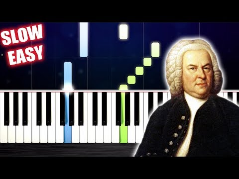 Bach - Minuet in G - SLOW EASY Piano Tutorial by PlutaX