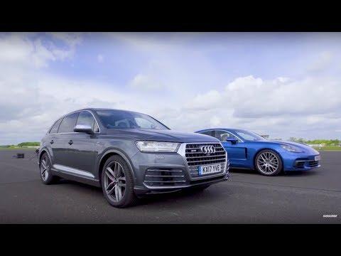 Drag Race! Audi SQ7 Vs Porsche Panamera | Top Gear