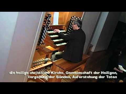Kay Johannsen spielt eine Orgelomprovisation über das Glaubensbekenntnis