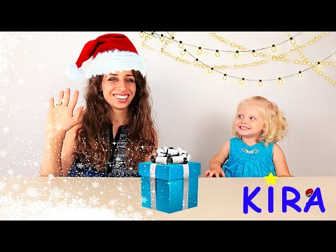 Kira and Mommy turn on summer into winter / Hatchimals Christmas Calendar / Toys unboxing