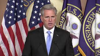 House Republican leader Kevin McCarthy holds his weekly news conference