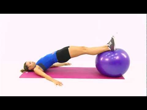 Lying Hip Raises with Stability Ball