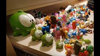 прилипалы, много игрушек, ам ням