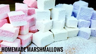 Homemade Marshmallows(flavored Marshmallows) WITHOUT THERMOMETER AND WITHOUT CORN SYRUP