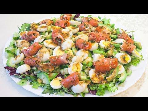 Вкусный салат с красной рыбой и авокадо «Легенда»