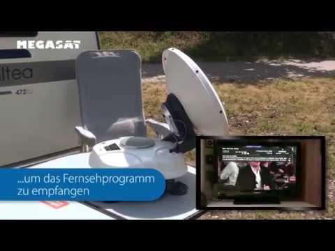 Die transportable, vollautomatische Megasat Satmaster Sat-Anlage