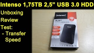 """Intenso 1,75 TB 2,5"""" USB 3.0 externe Festplatte HDD - Unboxing, Review, Transfer Speed Test"""